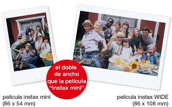 Instax WIDE 300: Fotografías Instax en formato panorámico