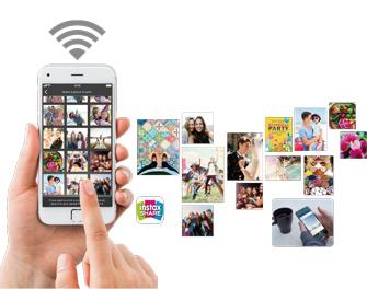 Imprima imágenes desde su teléfono inteligente o tableta en forma inalámbrica.