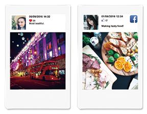Plantilla de Redes Sociales (para Facebook e Instagram), incluye ícono de la red social, foto de perfil y algunos datos más.