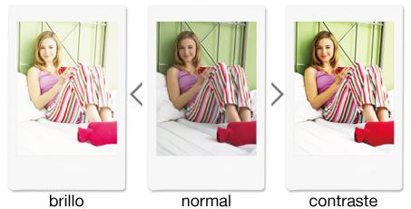 Nuevos filtros: brillo, normal y contraste